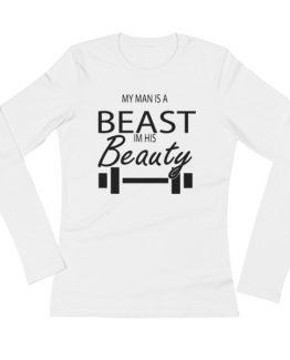 Beauty/Beast ladies' Long Sleeve T-Shirt