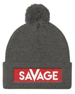 Savage Pom Pom Knit Cap