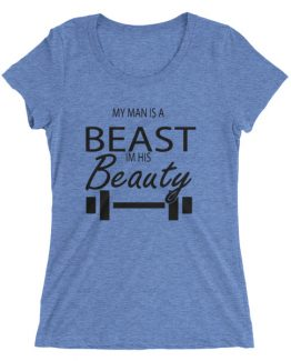 Beauty/Beast ladies' short sleeve t-shirt